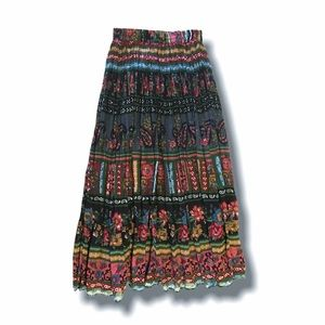 VTG Broomstick Skirt, Small, Gauzy Semi-Sheer
